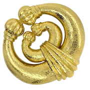 David Webb 18k Yellow Gold Brooch Pendant