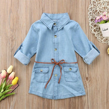 Load image into Gallery viewer, Belted Chambray Dress