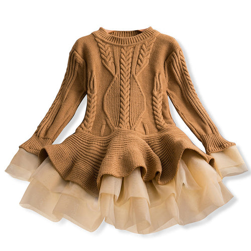 Cable Knit Tutu Dress