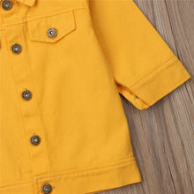 Load image into Gallery viewer, Yellow Denim Jacket
