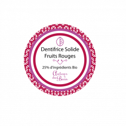 DENTIFRICE SOLIDE AUX FRUITS ROUGES - 30ML