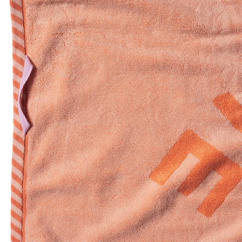 peach nudie rudie bath towel
