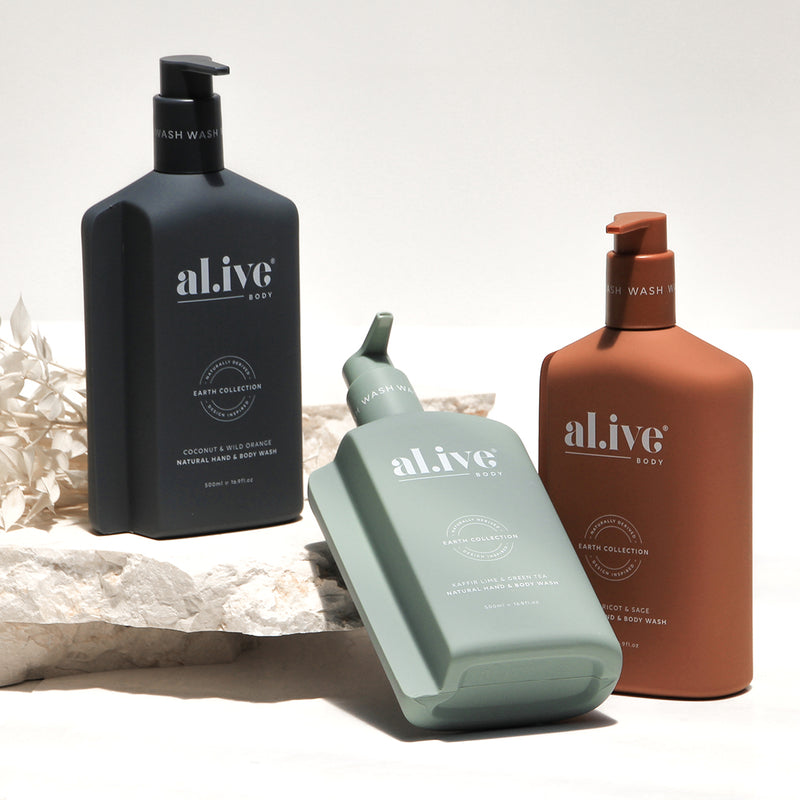 alive natural hand & body wash