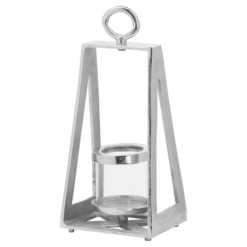 Ohlson Silver Pyramid Tea Light Lantern