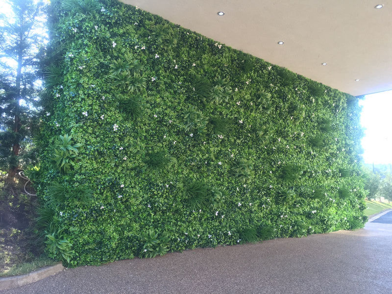 White Flower Artificial Living Wall