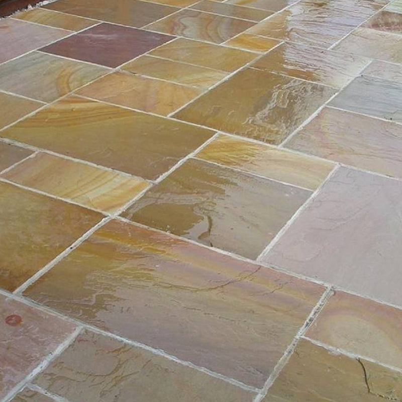 Buff Rippon Standstone Paving