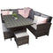 Charlotte Corner Dining Sofa Set with Polywood Top
