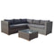 Georgia Compact Corner Sofa Set with Coffee Table