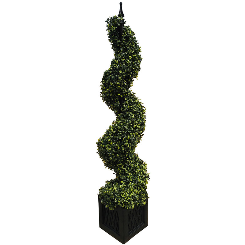 Artificial 120cm Boxwood Spiral Tower