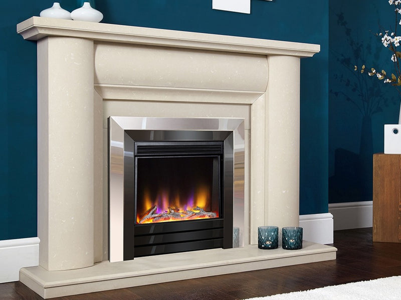 Celsi Electriflame VR Acero Electric Fire - Chrome & Black Nickel