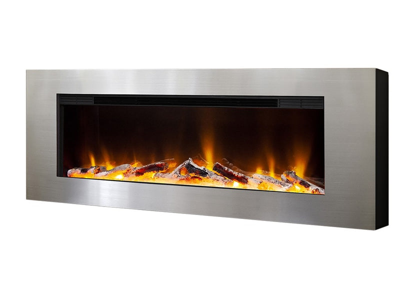 "Celsi Electriflame VR Basilica 40"" Wall Mounted Fire - Silver"