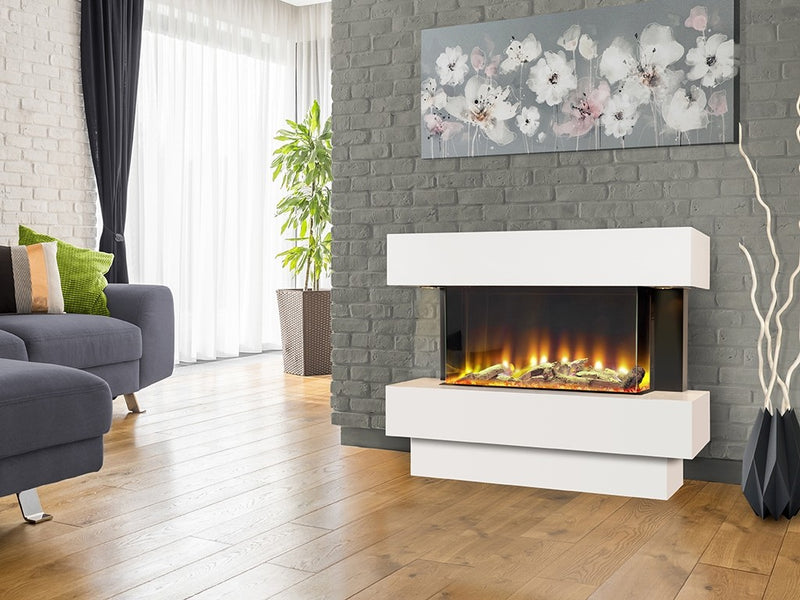 Celsi Electriflame VR Carino 750 Electric Fireplace Suite