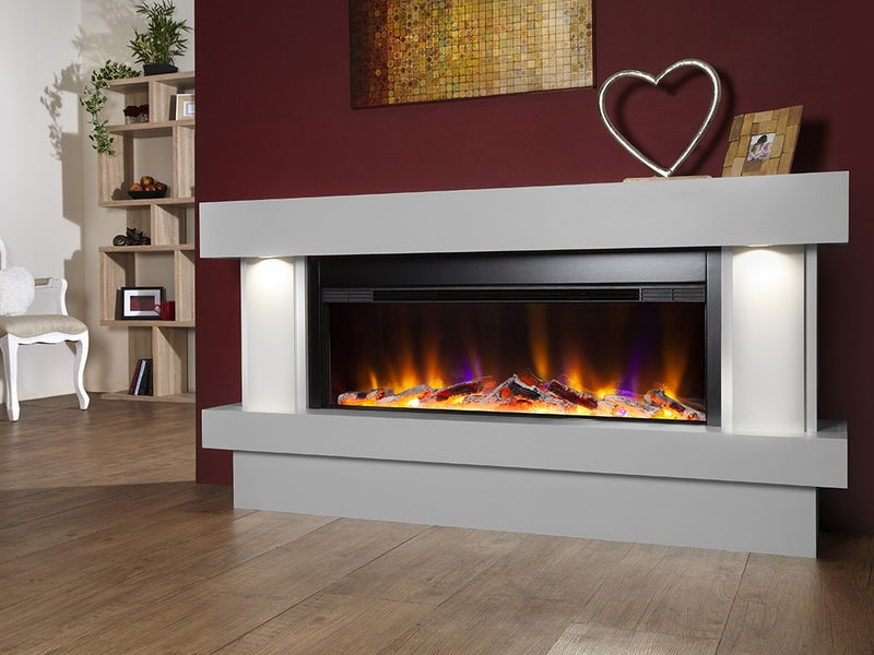 Celsi Electriflame VR Orbital Illumia Electric Fireplace Suite - Smooth Mist