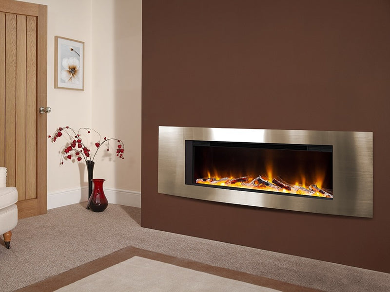 "Celsi Electriflame VR Vichy 40"" Wall Mounted Inset Fire - Champagne"