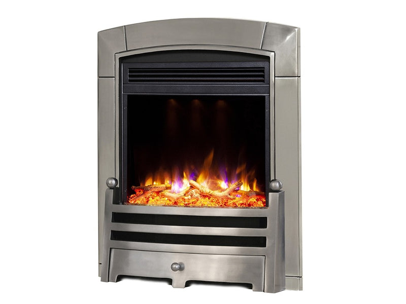 Celsi Electriflame XD Caress Bauhaus Electric Fire - Polished Silver