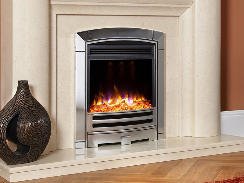 Celsi Electriflame XD Decadence Electric Fire - Silver