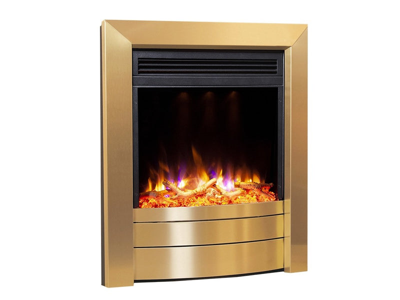Celsi Electriflame XD Essence Electric Fire - Satin Brass