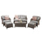 Harriet Four Seater Sofa Set with Footstools