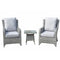 Sarah 3 Piece High Back Lounge Set