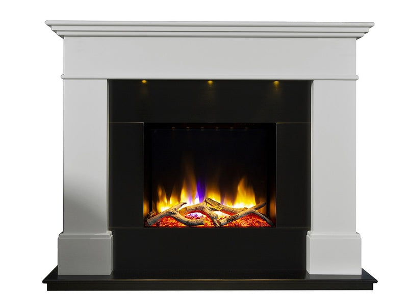 "Celsi Ultiflame VR Adour Illumia 22"" Electric Fireplace Suite - Black Hearth Smooth Mist"