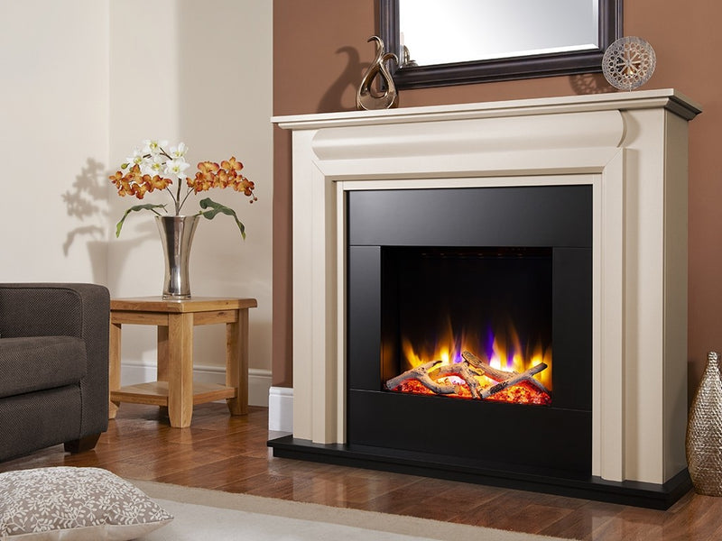 "Celsi Ultiflame VR Callisto 22"" Electric Fireplace Suite - Smooth Cream"