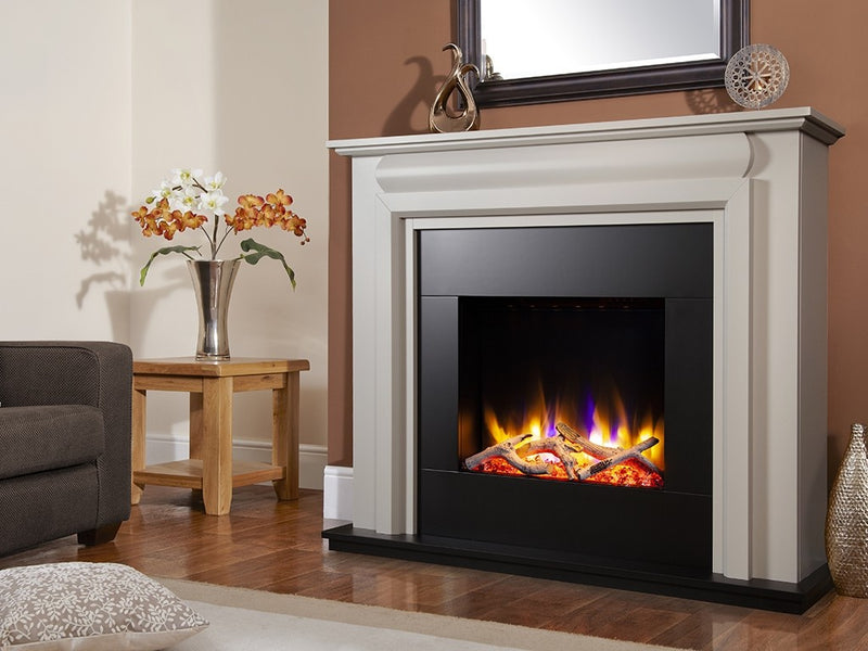 "Celsi Ultiflame VR Callisto 22"" Electric Fireplace Suite - Smooth Mist"