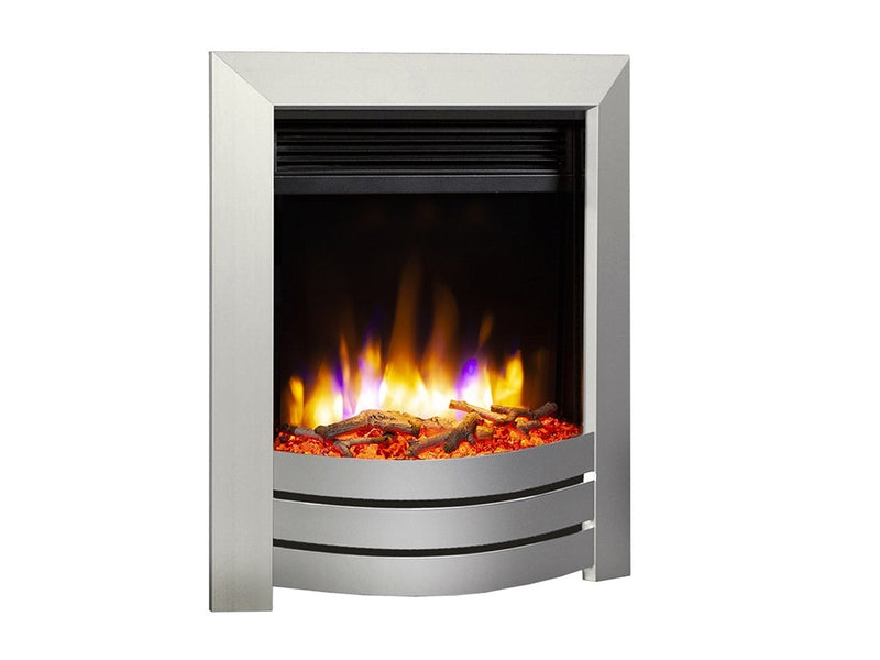 Celsi Ultiflame VR Camber Electric Fire - Silver