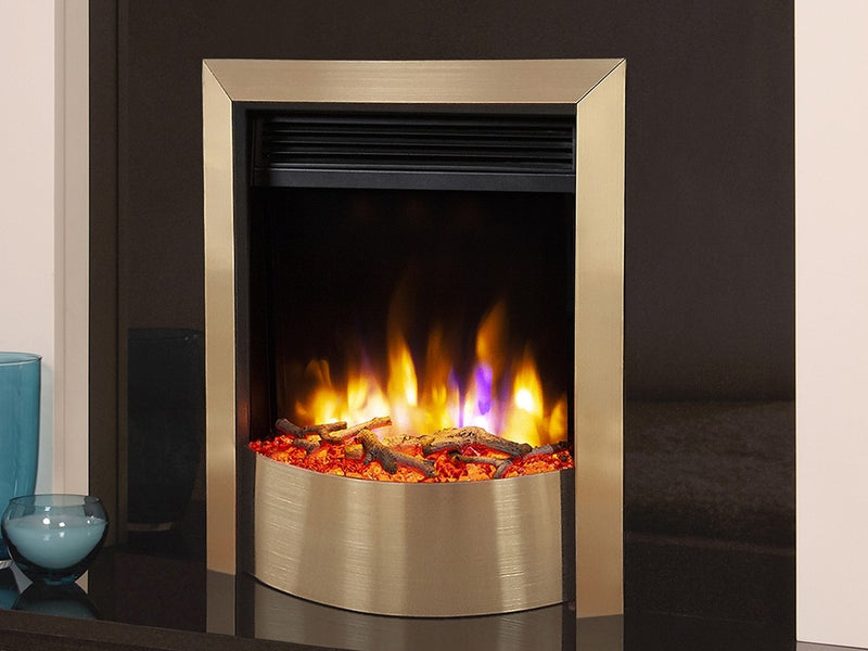 Celsi Ultiflame VR Contemporary Electric Fire - Champagne