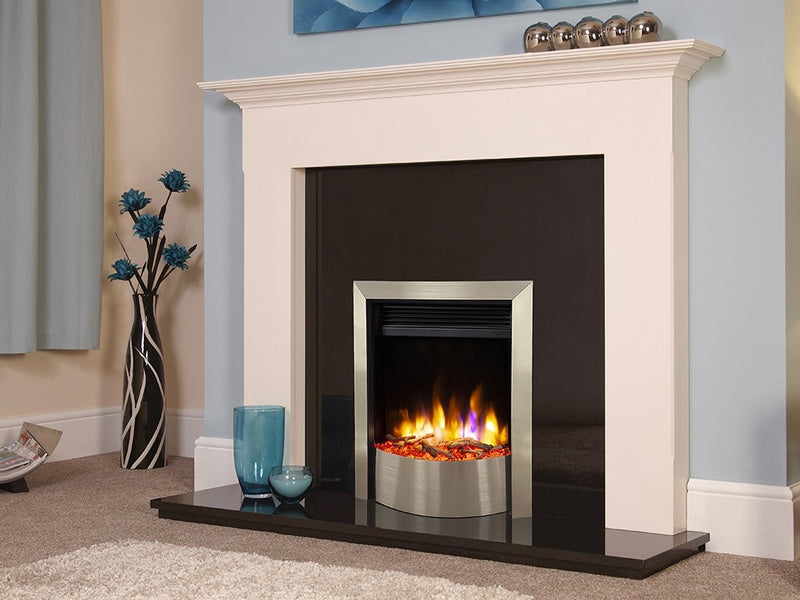 Celsi Ultiflame VR Contemporary Electric Fire - Silver