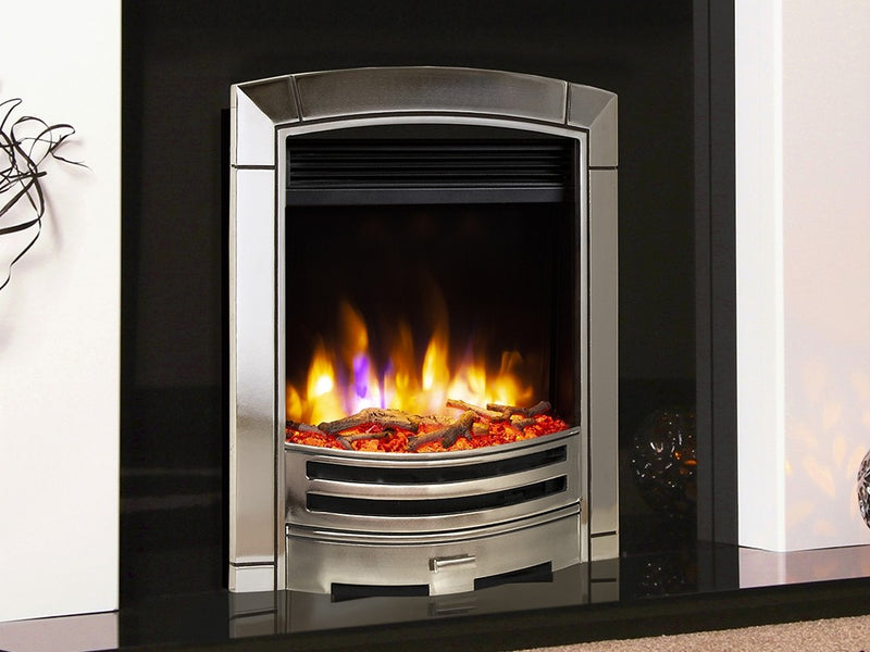Celsi Ultiflame VR Decadence Electric Fire - Silver