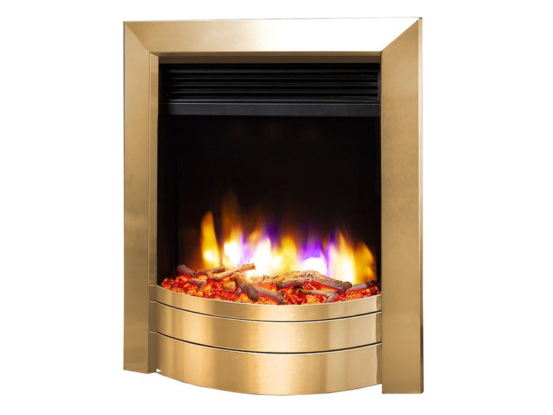 Celsi Ultiflame VR Essence Electric Fire - Satin Brass