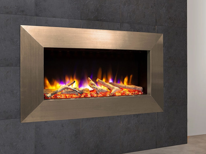 "Celsi Ultiflame VR Instinct 33"" Wall Mounted Electric Fire - Champagne"
