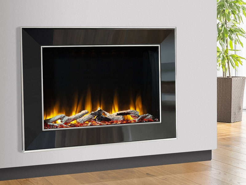 Celsi Ultiflame VR Vader Aleesia Wall Mounted Electric Fire - Black Nickel & Chrome