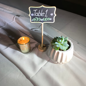 Rental Item - Tall Chalk Board Table Numbers