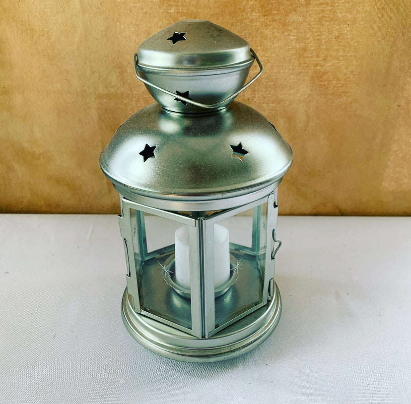 Rental Item - Small Silver Lanterns