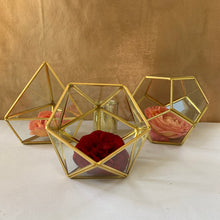 Load image into Gallery viewer, Rental Item - Gold Geo Shapes for centerpieces
