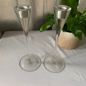 Rental Item - Candle sticks tall Clear