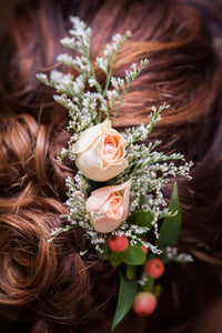 Fresh Floral Hair Pieces and Crowns