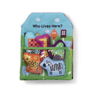 Who Lives Here Cloth Book - Soft Activity Book