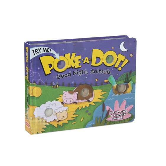 Poke-A-Dot: Goodnight, Animals Book