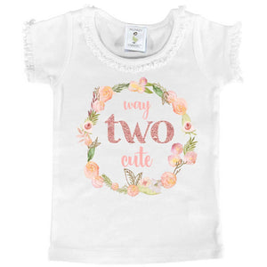 """Way TWO Cute"" Second Birthday Tee - Mumsy Goose"