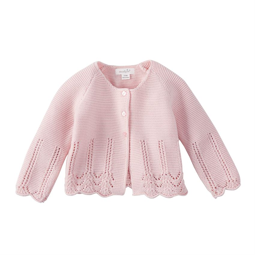 Mud Pie Pink Eyelet Cardigan