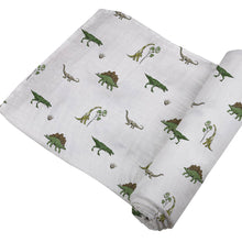 Load image into Gallery viewer, Newcastle Classics Cotton Muslin Swaddle Blanket - Dino Days