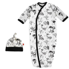 Load image into Gallery viewer, Magnetic Me Modal Magnetic Sack Gown & Hat - Animal Safari