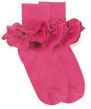 Load image into Gallery viewer, Jefferies Socks - Misty Ruffle Turn Cuff Socks (6 color options)