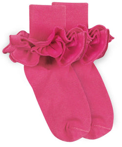 Jefferies Socks - Misty Ruffle Turn Cuff Socks (6 color options)