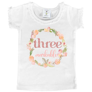 """THREEmarkable"" Third Birthday Tee - Mumsy Goose"