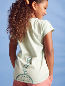 Tea Collection Here Lynxy Lynxy Graphic Tee - Seafoam