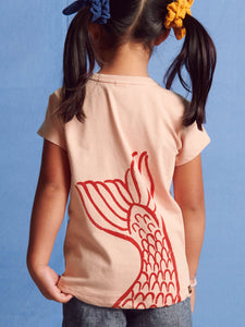 Tea Collection Macedonian Mermaid Graphic Tee - Dusty Coral