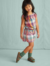 Load image into Gallery viewer, Tea Collection Family Check Flutter Romper - Suez Plaid